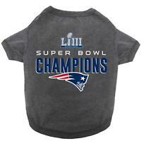 NFL New England Patriots 2018-2019 Super Bowl LIII Championship Pet Tee Shirt LG