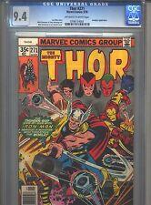Thor #271 CGC 9.4 (1978) Avengers Nick Fury Iron Man Nova Captain Marvel Dr Doom