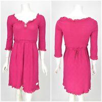 Womens Odd Molly 471A Tunic Dress Cotton Pink Short Sleeve Size 1 / S