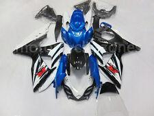Black White Blue Injection Complete Fairing For Suzuki 2009-2014 GSX-R GSXR 1000