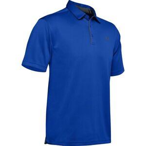 Under Armour Men's UA Tech Blue Golf Polo Team Shirt Size XXL