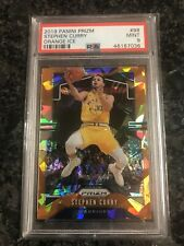 2018-19 PANINI PRIZM STEPHEN CURRY ORANGE ICE PRIZM #98 PSA 9 MINT