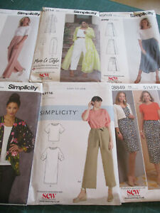 SIMPLICITY SEPERATES SEWING PATTERNS, NEW UNCUT + FACTORY FOLDED,  CHOICE OF 6