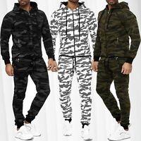 Ensemble camouflage de survêtement pour hommes Veste à capuche Pantalon jogging
