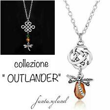 collana outlander telefilm swarowski regalo amore nodo scozzese libellula