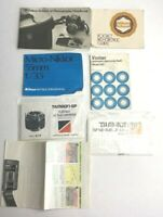 Lot of Vintage Camera Brochures Manuals Nikon Vivitar Tamron