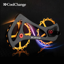 CNC Ceramics Bearing Bike Rear Derailleur Cage Pulley Drivetrain 17T For Shimano