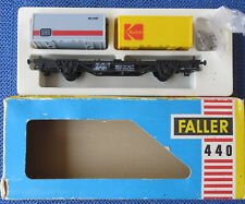 Faller Ams 440 Vagoni con Container Scatola Originale Raro