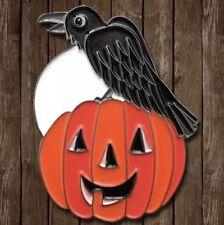 VINTAGE STYLE Halloween Zucca e CROW CON LUNA PIENA