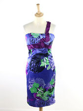 Karen Millen Womens Lilac Asymetric Shoulder Dress DG109 Size 12