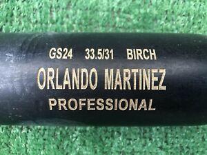 LOS ANGELES ANGELS ORLANDO MARTINEZ GAME USED BASEBALL BAT