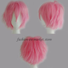 Short Cosplay Synthetic Wig Short Haircut Hair Unisex Party Cosplay Full Wig Red