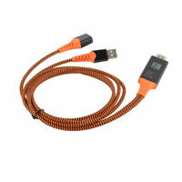 Orange Portable USB Female To HDMI Male HDTV Adapter Cable High Quality Line
