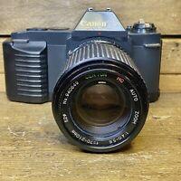 Canon T50 Film Camera SLR w/ 70-210mm Centon Zoom Lens, Working Lomo Retro