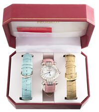 Peugeot Womens Pearl Dial Pink Genuine Leather Strap Watch 3140S 32mm