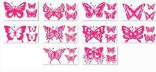 3 Butterfly Vinyl Stickers, decals, car,window, VAN, BOAT, BIKE TABLET