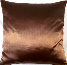 """Brown Cushion Cover Osborne and Little Silk Fabric Square 16"""""""