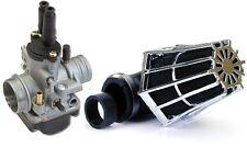 Kit carburateur PHBG 19 DS + filtre cornet 28/35 pour Moto 50 à boite scooter 50