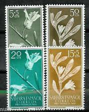 Spain SAHARA Edifil # 126/129 ** MNH Set. Flores / flowers