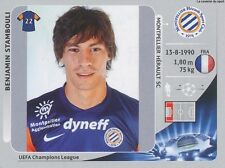 N°142 STAMBOULI # FRANCE MONTPELLIER.SC HSC CHAMPIONS LEAGUE 2013 STICKER PANINI