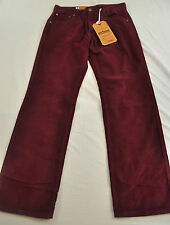 NWT! MEN'S URBAN PIPELINE CORDUROY PANTS LOW RISE SIZE 32 X 32 RED MSRP $44