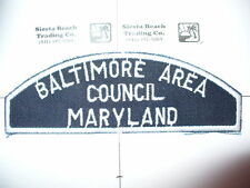 BWS Baltimore Area Council,Sea Scout Full Strip, Rare Variety,OA 12, Maryland,MD