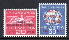 Switzerland / UN - 1960 Refugee year Mi. 31-32 MNH
