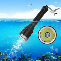 Underwater 100M 10000 Lumen T6 LED Scuba Diving Flashlight Torch Light Lamp IPX8