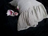 Linen pilowcase with long ruffle ruffled pillowcase eco bedding pillow cover