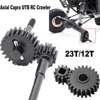Strengthened Gear Portal Axle Steel Teeth 32P 23T/12T Black for Axial Capra UTB