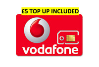 Vodafone Pay As You Go Sim Card £5 Credit Preloaded  3G 4G Triple Cut NEW OFFER