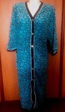 Women Velour Bath Robe Plus  3XL 4XL 5XL  Firat Cotton Blue Black New Button