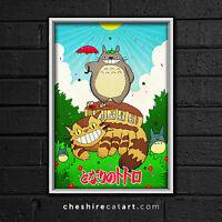 "Studio Ghibli My Neighbor Totoro Print 13""x19"" Signed"