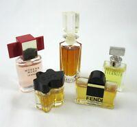Perfume 5 Miniature Bottles Fendi Eternity Red Modern Muse Oscar de la Renta