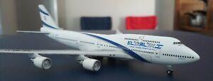 EL-AL Boeing 747- 458 4X-ELD 1:400 Diecast Gemini Jets Limited Edition