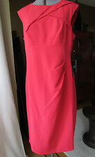 Adrianna Papell Poppy Red Solid Origami Crepe Dress Size 16