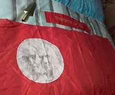 DDR NVA Ehrenbanner der SED gestickt + Fahnenspitze 30 cm + Fahne 110 x 155