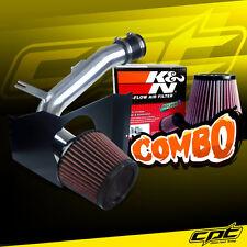 For 08-14 Impreza WRX/STI 2.5L 4cyl Polish Cold Air Intake + K&N Air Filter