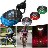 5 LED+ 2 Laser Flashing Bike Rear Tail Light Cycling Bicycle Safety Warning Lamp