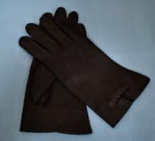 Vintage Hansen Pignylon Ladies Black Driving Gloves Size 7 1/2