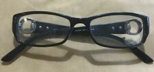 Gucci GG3553 Shiny Black Frame w/Crystal D28 140 Rectangle Eyeglasses Italy