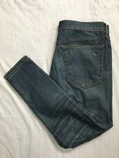 Rag & Bone Jean Capri Size 27 Skinny Slim Fit Medium Wash Stretch USA Made EUC