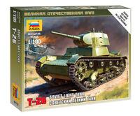 ZVEZDA 6113 Carro armato sovietico T-26 mezzo militare scala 1:100