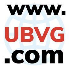 Dominio COM de 4 letras  www.UBVG.com