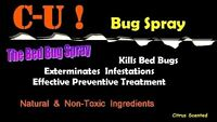 Say Bye-Bye to Bed Bugs SAFELY NonTox Killer Spray CUbugspray *CONC. for 0.5 GAL