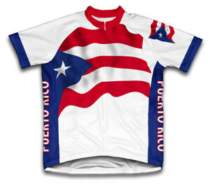 PUERTO RICO FLAG Countries Flag Cycling BIKE Jersey Shirt Tricot Maillot