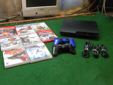 Play Station 3 PS3 CECH-3001A Console & Controller 6 Games, TESTED WORKS