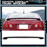 Fits 03-08 Corolla OE Flush Mount Matte Black Trunk Spoiler LED Brake Light