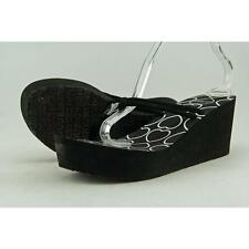 Guess Aubree Women US 9 Black Wedge Sandal Pre Owned  1548