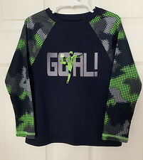 Boys The Childrens Place Long Sleeve Soccer Goal T-shirt Size: Xs 4